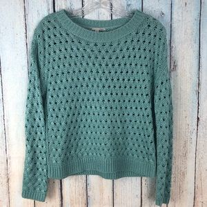 Halogen Nordstrom Turquoise Knit Sweater Small